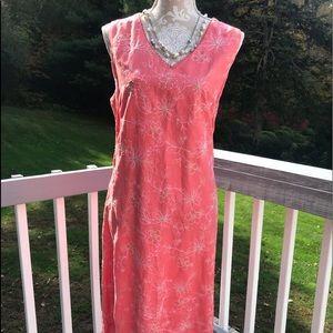 Beautiful Talbots linen blend dress 16 NWT